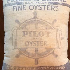 Feedsack Pillow, Oyster Motivational Pillow